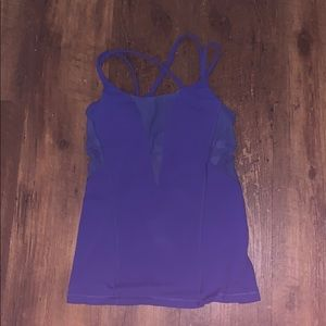 Blue lululemon tank top